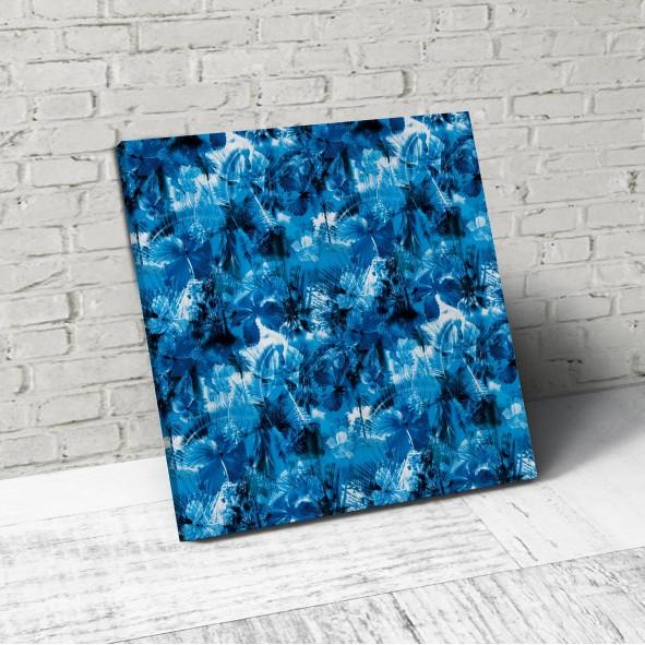син цвят в интериора