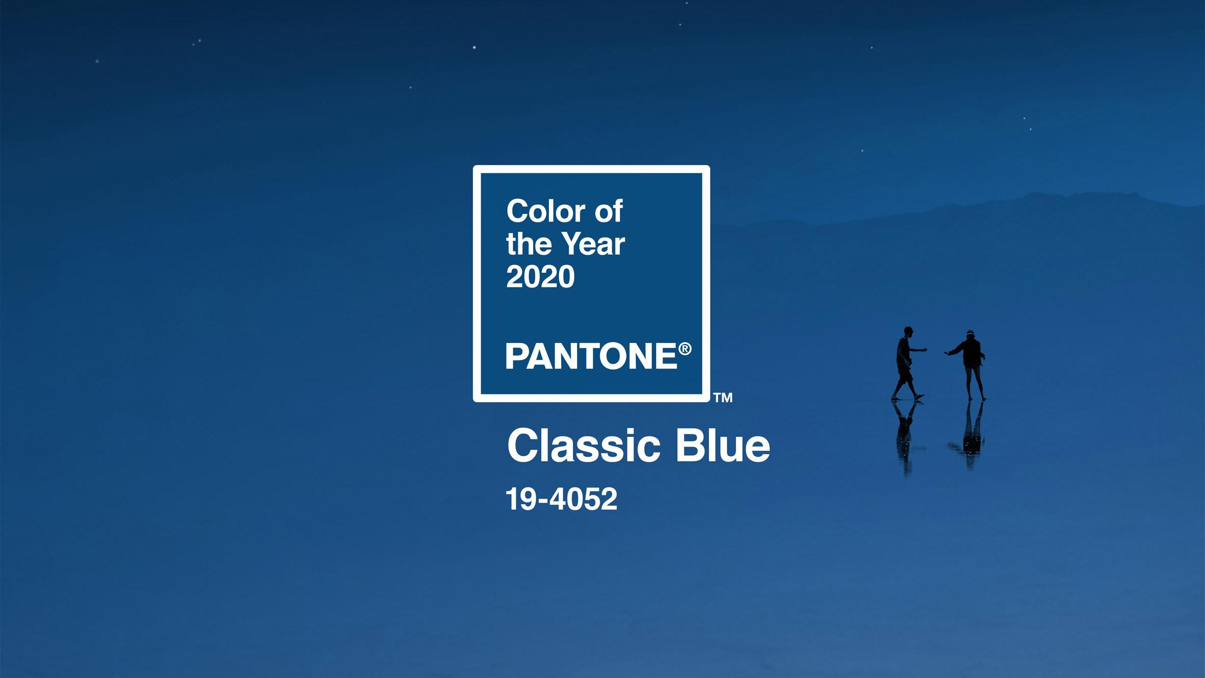 класическото синьо - цветът на 2020 година